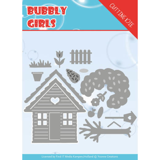 Dies - Yvonne Creations - Bubbly girls- In the Garden  YCD10169