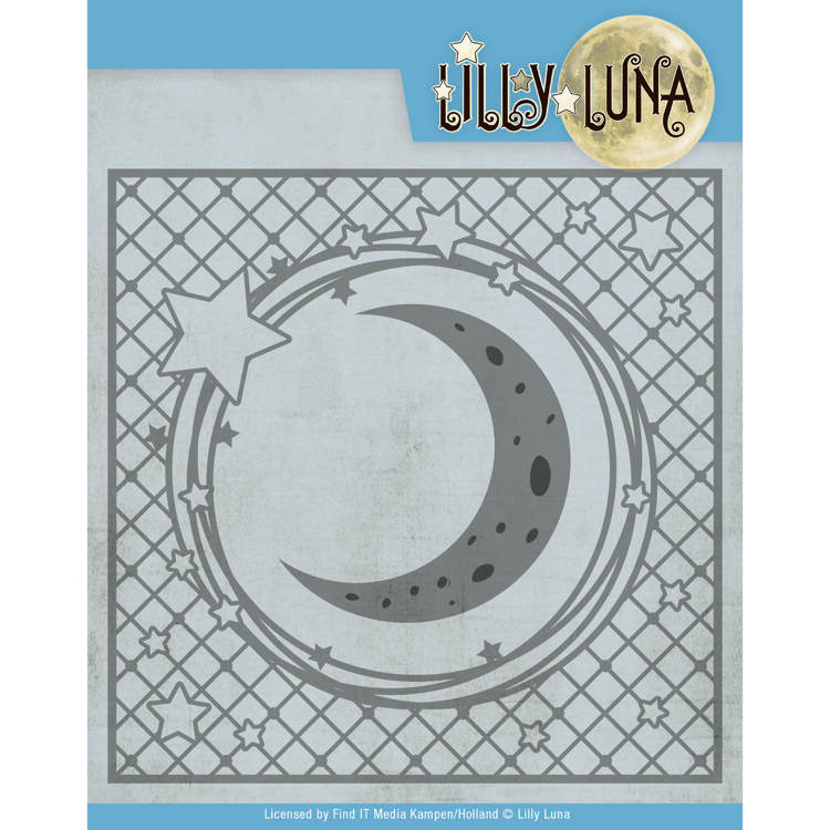 Snijmal- Lilly Luna - Stars and Moon Frame  LL10005 (12.5x12.5cm)
