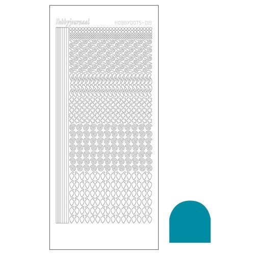 Hobbydots sticker - Mirror Turquoise  nr.19