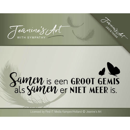 Clearstamp - Jeanine's Art - With sympathy  JACS10005