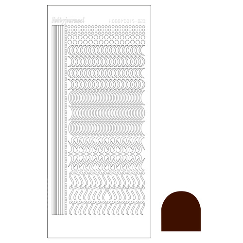 Hobbydots sticker 20 - Mirror Brown