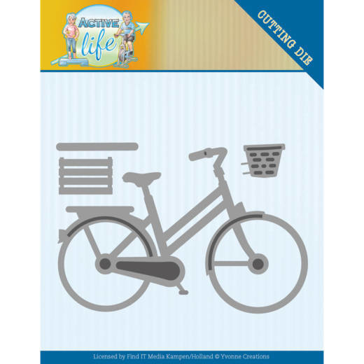 Dies - Yvonne Creations - Active Life - Bicycle   YCD10195 . Formaat ca. 8,1 x 5,6 cm