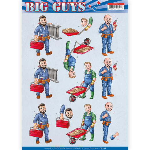 3D Knipvel - Yvonne Creations- Big Guys - Repairs  CD11328