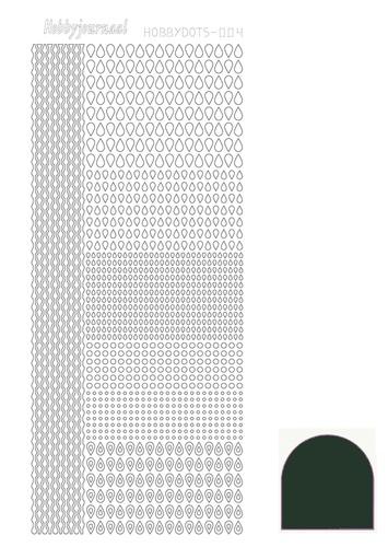 STDM04J Hobbydots sticker - Mirror - Christmas Green