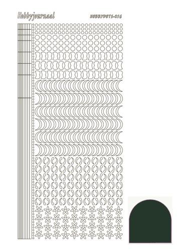 STDM16J Hobbydots sticker - Mirror - Christmas Green
