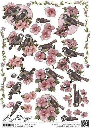 CD10640 3D Knipvel - Amy Design - Vogeltjes