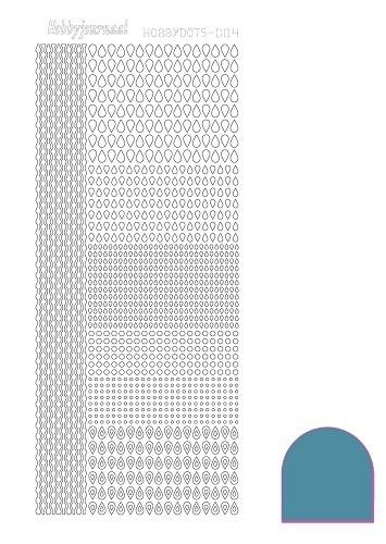 Hobbydots sticker nr 4 - Mirror - Turquoise