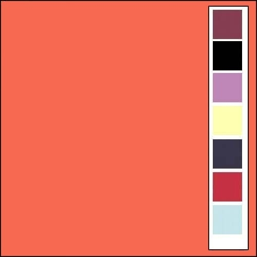 Linnenkarton - Vierkant - Oranje  11