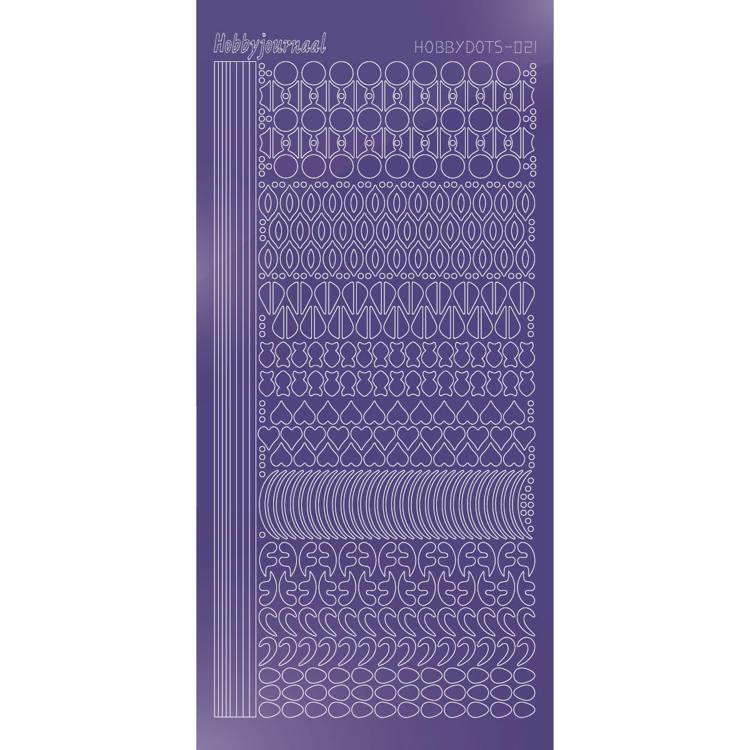Hobbydots sticker - Mirror - Purple   STDM219
