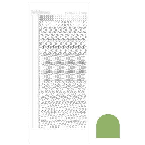 Hobbydots sticker 20 - Mirror Lime