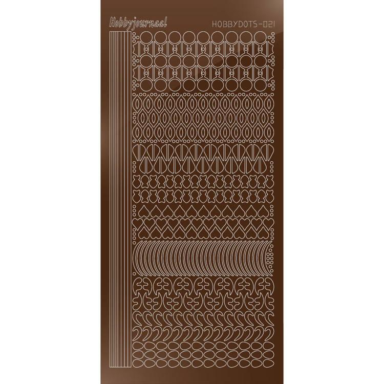 Hobbydots sticker - Mirror - Brown  STDM21G