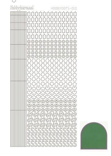 Hobbydots sticker 10 - Mirror - Green