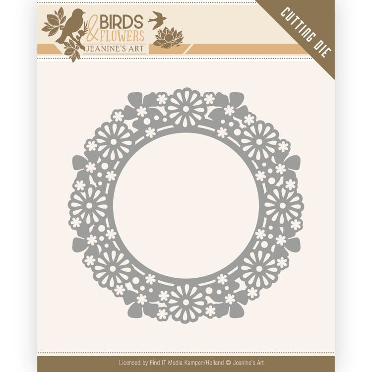 Dies - Jeanine's Art - Birds and Flowers - Flower Circle   JAD10059