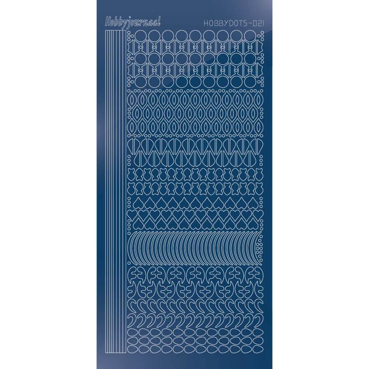 Hobbydots sticker - Mirror - Blue   STDM21A