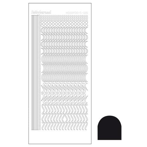 Hobbydots sticker 20 - Adhesive Black