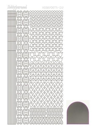 Hobbydots sticker 12 - Mirror - Silver