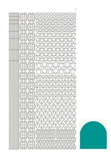 STDM12I Hobbydots sticker - Mirror Emerald
