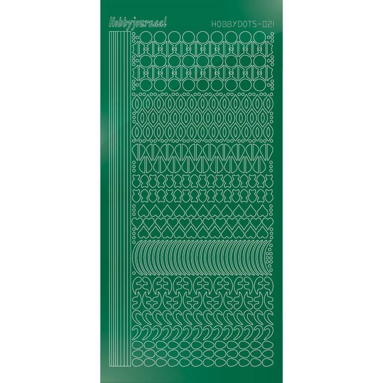 Hobbydots sticker - Mirror - Green  STDM212
