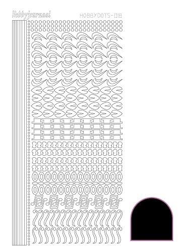 STDA183 Hobbydots sticker - Adhesive Black