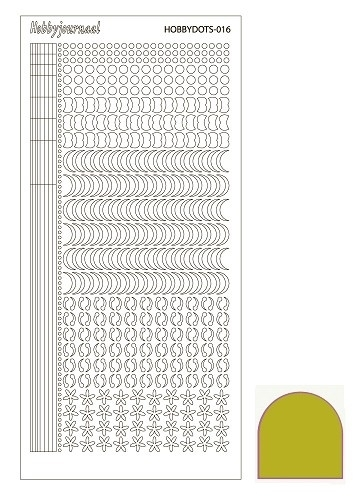 Hobbydots sticker  nr 16 - Mirror Yellow