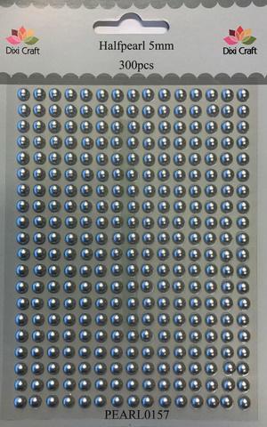 Dixi halfpearls 5 mm silver   300 stuks
