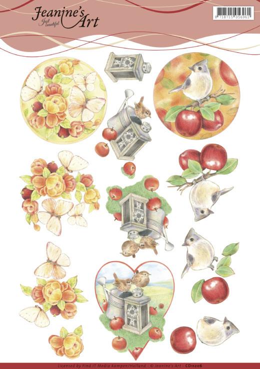 3D knipvel - Jeanines Art - Birds and Butterflies  CD11206