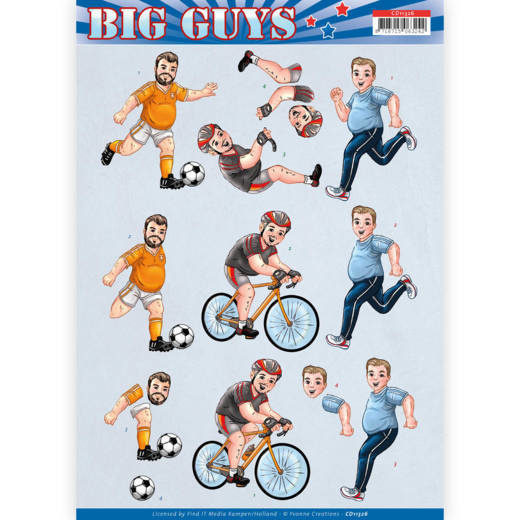 3D knipvel - Yvonne Creations- Big Guys - Sports   CD11326