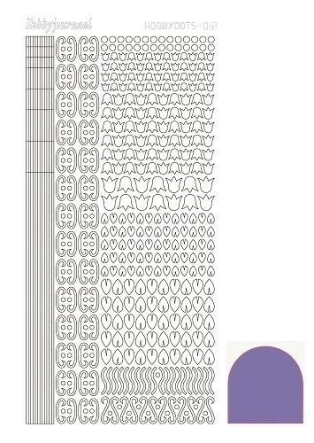 Hobbydots sticker 12 - Mirror - Purple