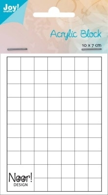 6200/0232 Acrylic bloc for clear stamps 1cm dik / 70x100 mm