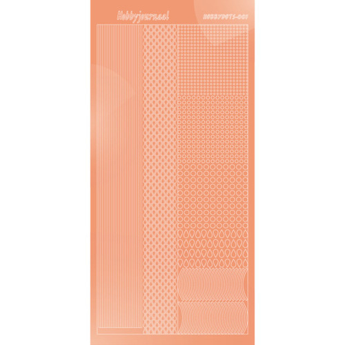 Hobbydots sticker - Mirror - Salmon   STDM01K