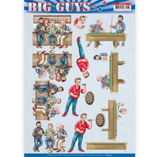 3D Knipvel - Yvonne Creations- Big Guys - Pub Night   CD11327