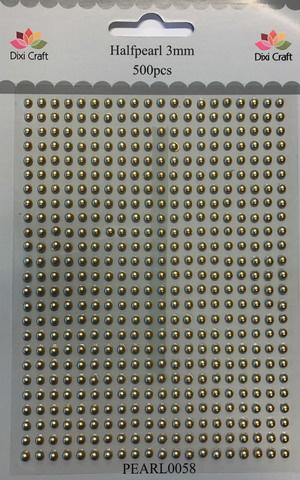 Dixi halfpearls 3 mm gold  500 stuks
