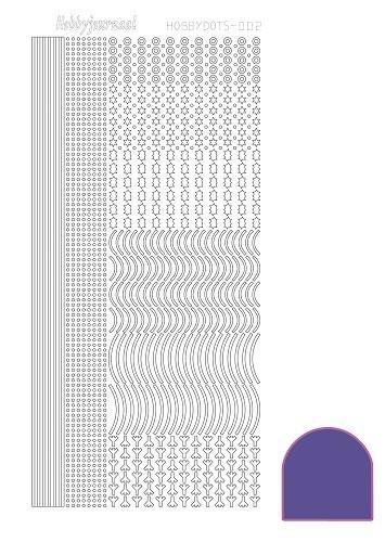 Hobbydots sticker - Mirror - Violet  nr.2