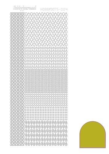 Hobbydots sticker  nr 4- Mirror - Yellow