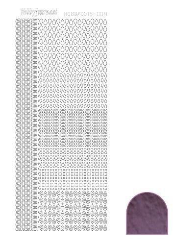 Hobbydots sticker - Mirror - Violet  nr.4