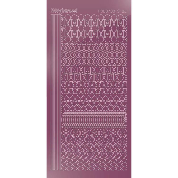 Hobbydots sticker - Mirror - Violet  STDM216