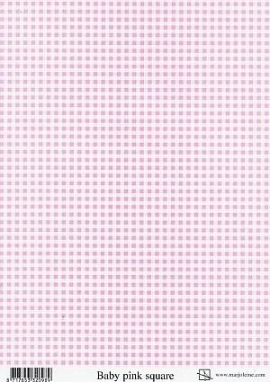 achtergrondvel Marjoleine roze ruit Baby pink square