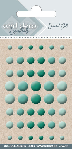 Card Deco Essentials - Enamel Dots Green  CDEED010