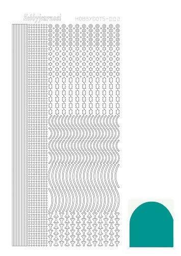STDM02I Hobbydots sticker - Mirror Emerald