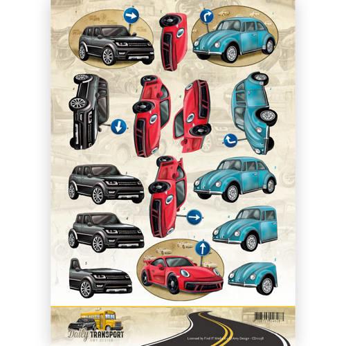3D Knipvel - Amy Design - Daily Transport - Daily Cars   CD11038