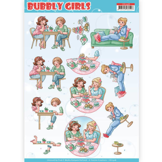 3D Knipvel - Yvonne Creations- Bubbly Girls - Me Time   CD11308