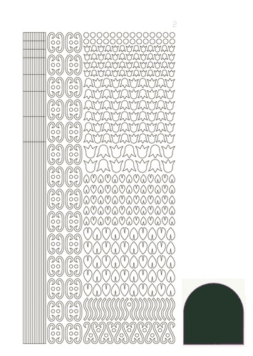 STDM12J Hobbydots sticker - Mirror - Christmas Green
