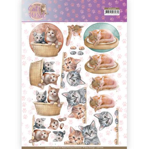3D Knipvel - Amy Design - Cats World - Kittens   CD11368