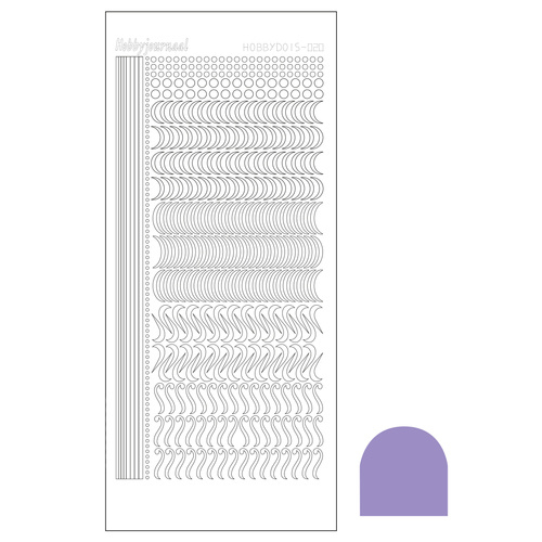 Hobbydots sticker  20- Mirror Violet