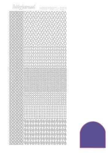 Hobbydots sticker - Mirror - Purple  nr.4