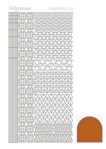 Hobbydots sticker 12 - Mirror - Copper