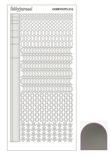 Hobbydots sticker  nr 16- Mirror Silver