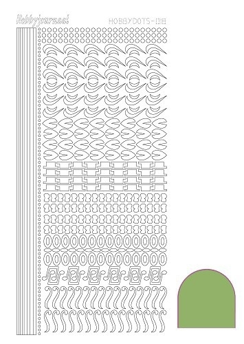 STDM18C Hobbydots sticker - Mirror Lime