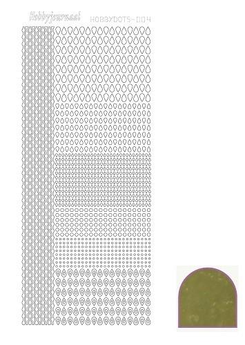 Hobbydots sticker - Mirror - Gold  nr.4