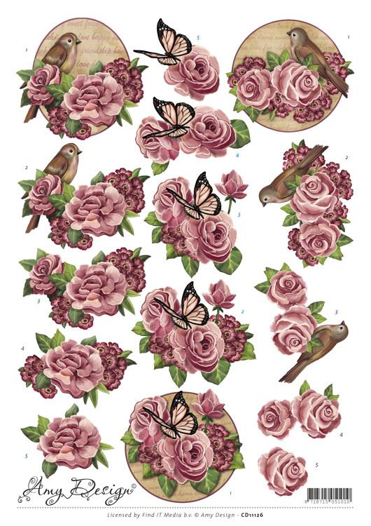 3D Knipvel - Amy Design - Flowers  CD11126